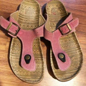 Muk Luks Suede flip flop sandals